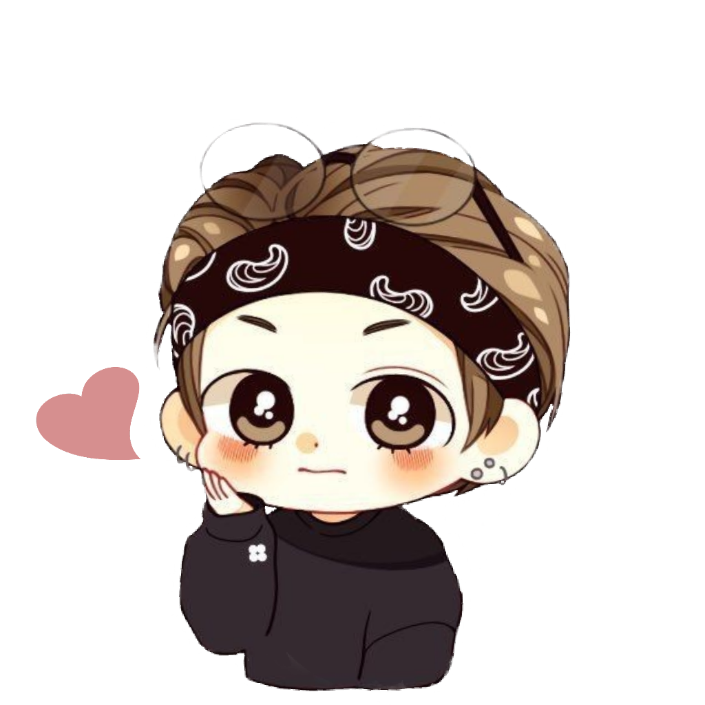 Bts chibi png. Cute taehyung sticker by