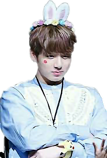 Bts cute png. Jungkook bunny sticker by