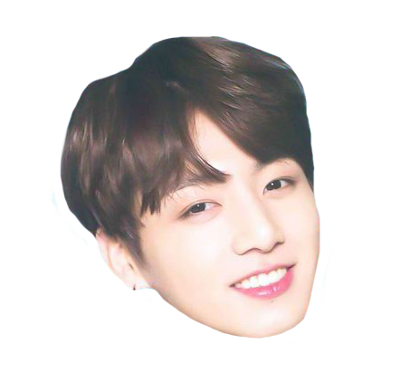 Head sticker edits pinterest. Bts jungkook funny face png banner free