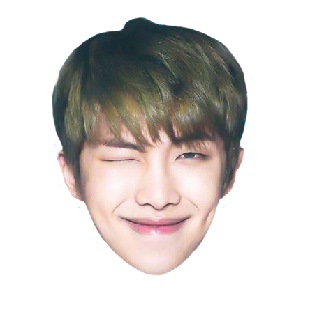 Bts jungkook funny face png. Rap monster head sticker