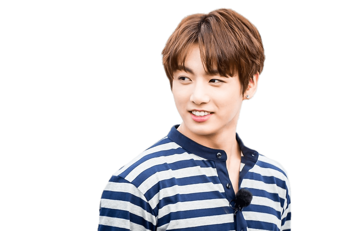 Bts jungkook png. Striped shirt transparent stickpng