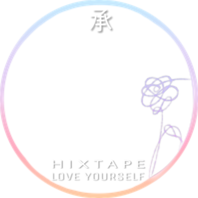 Her hixtape support campaign. Bts love yourself flower png picture black and white stock