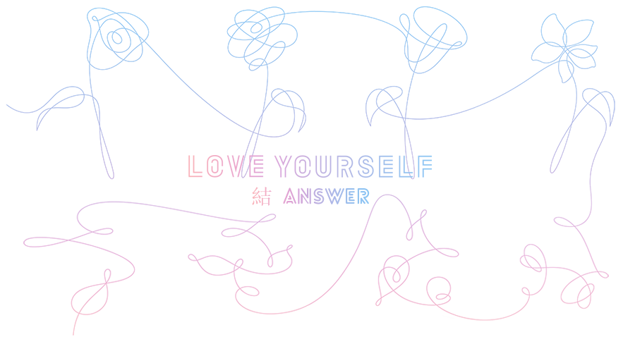 Answer cb thread release. Bts love yourself png banner black and white library