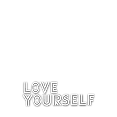 Support campaign twibbon. Bts love yourself png picture black and white stock