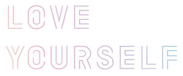 Bts loveyourself sticker colorful. Love yourself png banner black and white download