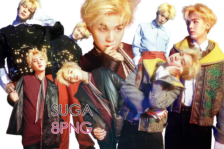Bts png pack. Suga marie claire graphic