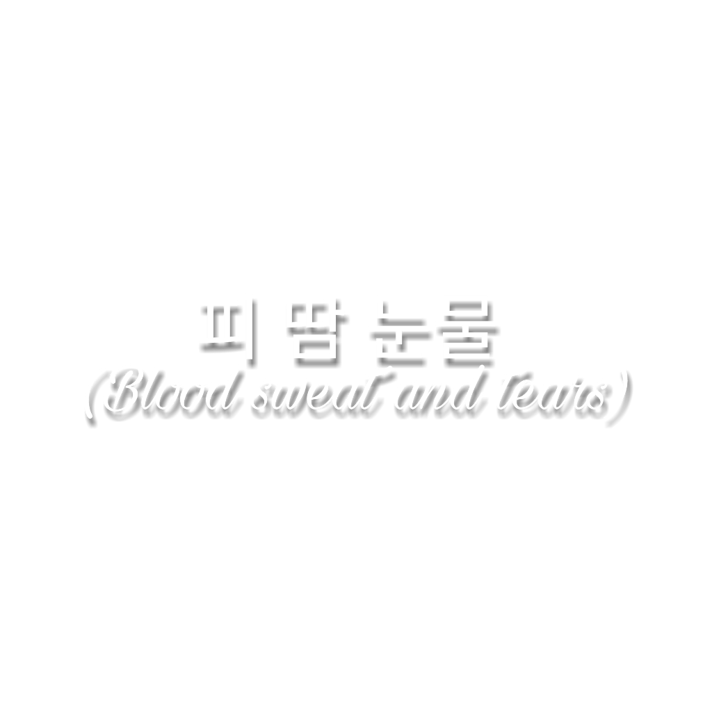 Bts quotes png. Bloodsweatandtears wings korean quote