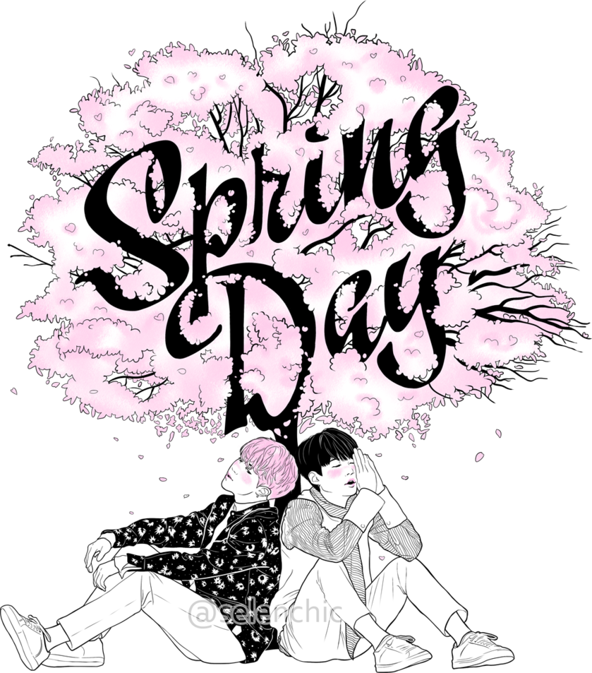 Bts spring day png. By selenchic on deviantart