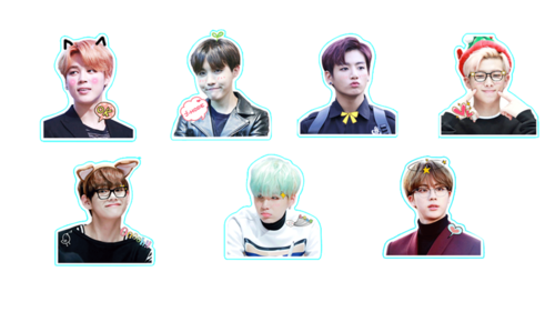 Bts stickers png. Uploaded by m i