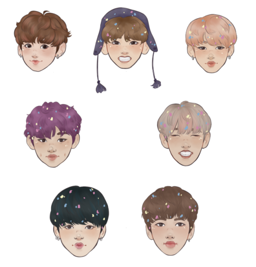 Bts stickers png. Fanarts peppermintpapers available on