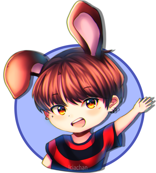 Bts stickers png. Jungkook by iciachan on
