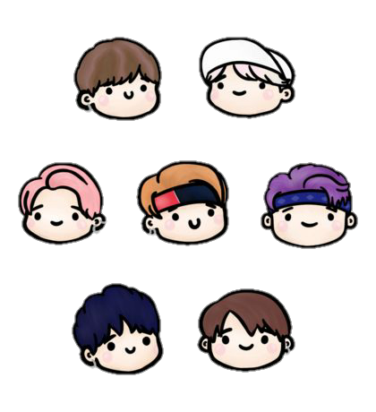 Bts stickers png. Sticker for more follow