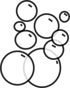 Bubble clipart black and white.