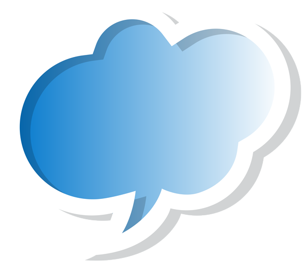 Bubble clipart png. Speech cloud blue clip