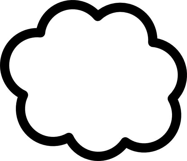 Bubble clipart outline. Simple cloud clip art
