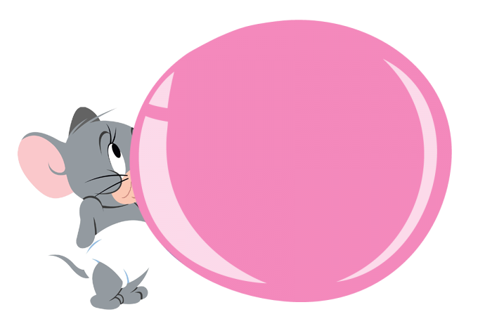 Bubble gum bubble png. Tuffy mouse blowing by