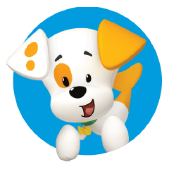 Bubble puppy png. Guppies emblem transparent stickpng