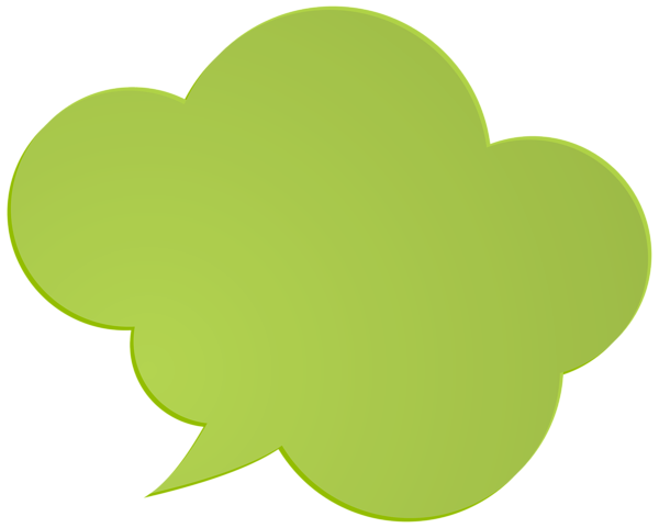 Bubble speech png. Green clip art image