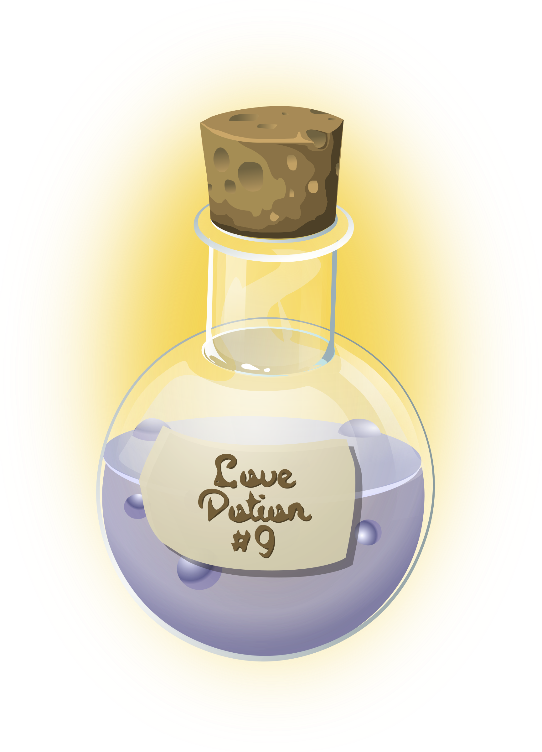 Bubbling potion bottle png. Love icons free and