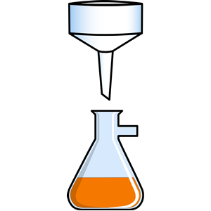 Buchner. Funnel and flask clipart