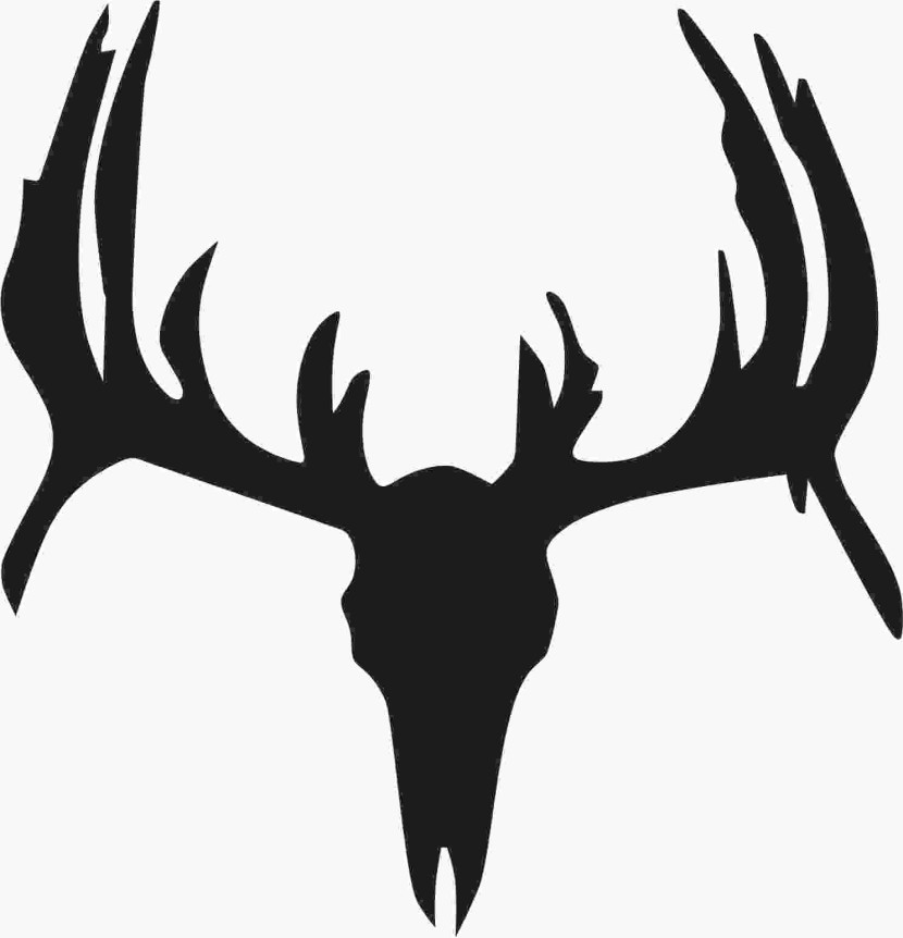 Buck clipart. Whitetail deer silhouette clip