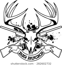 Buck clipart big buck. Hunting free joke illustration