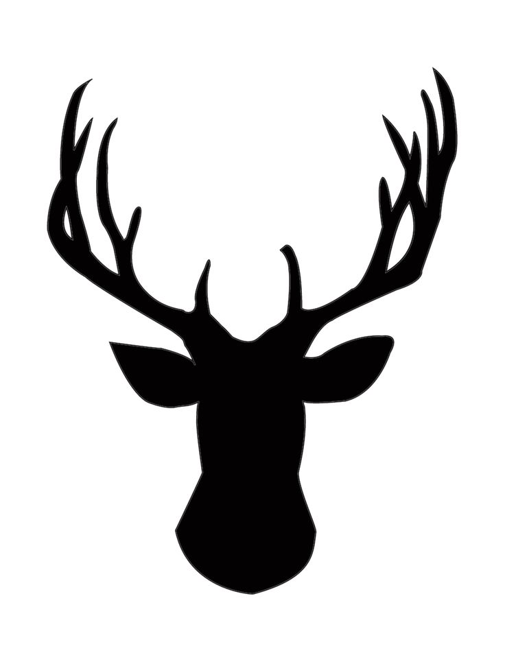 Buck clipart big buck. Silhouette at getdrawings com