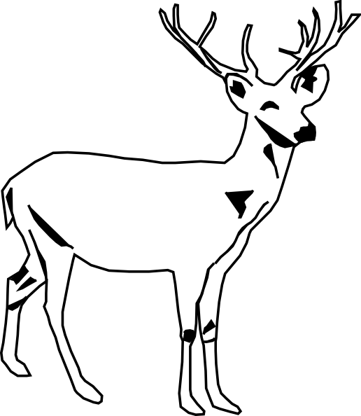 Buck clipart black and white. Deer panda free images