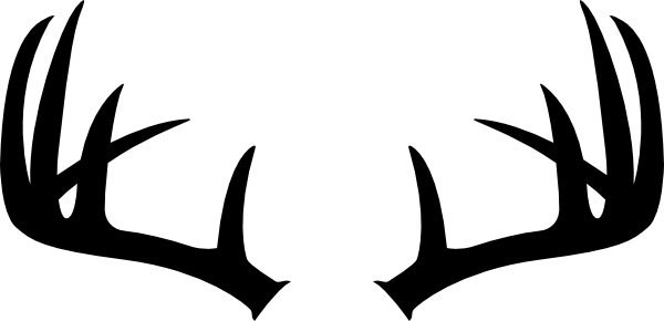 Buck clipart horns. Black silhouette of deer