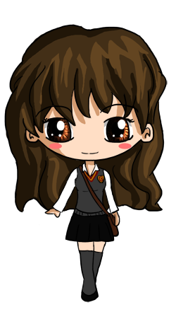 Buckbeak drawing anime. Hermione chibi by icypanther
