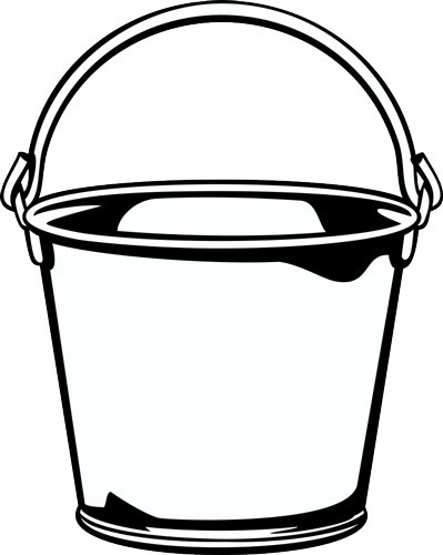 Clip art free download. Bucket clipart free library