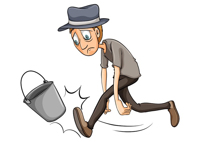 Bucket clipart kick the bucket. Kicking how to die