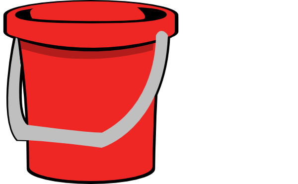 Bucket clipart small bucket. Red clip art at