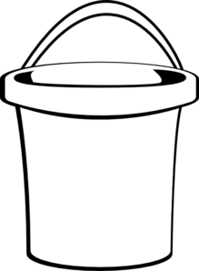 Bucket clipart small bucket. With handle clip art