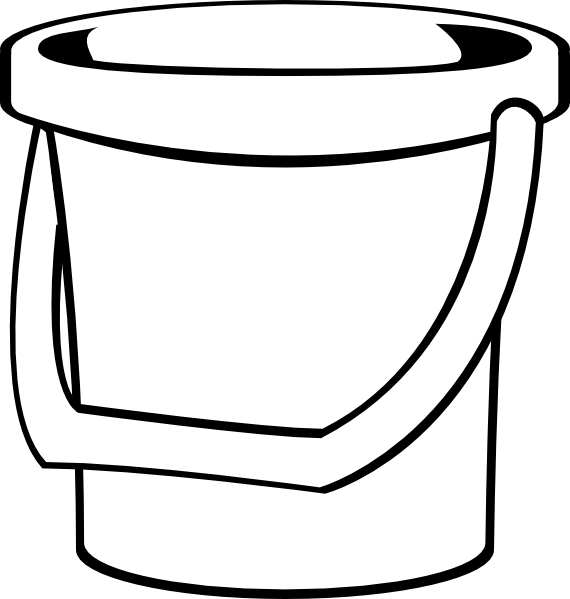 Bucket clipart small bucket. White clip art at