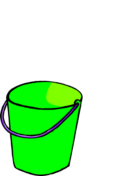 Bucket clipart small bucket. Green clip art at