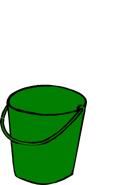 Green clip art at. Bucket clipart clip freeuse