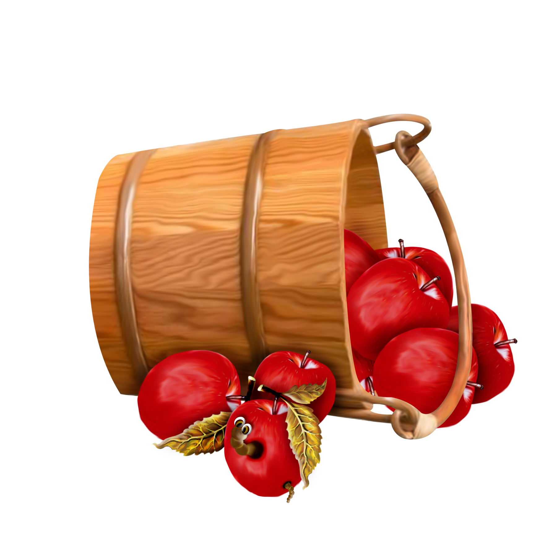 Bucket of apples png. With transparent clipart gallery