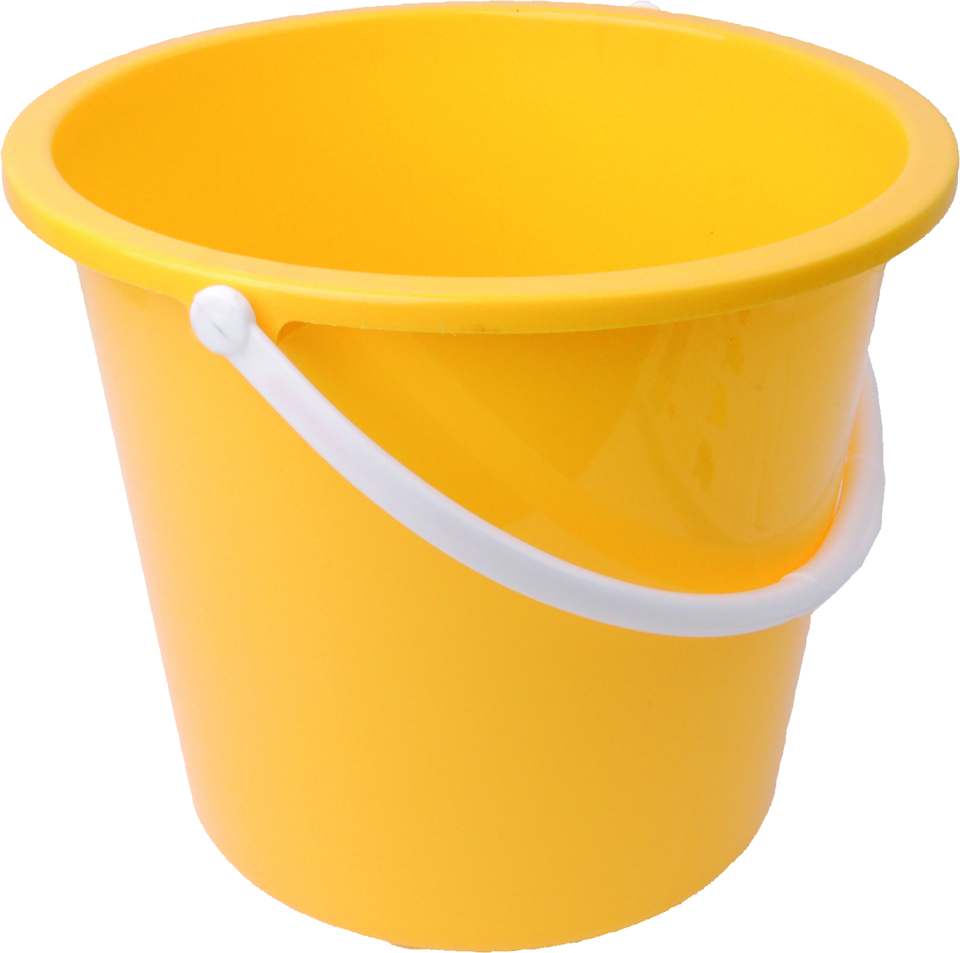 Bucket transparent plastic. Yellow png image purepng