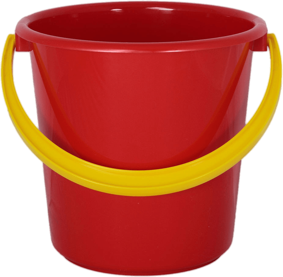 Bucket png. Red plastic transparent stickpng