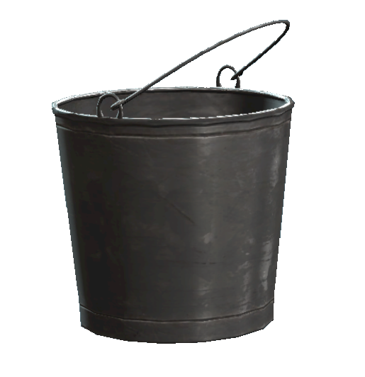 Bucket png. Image untarnished metal fallout
