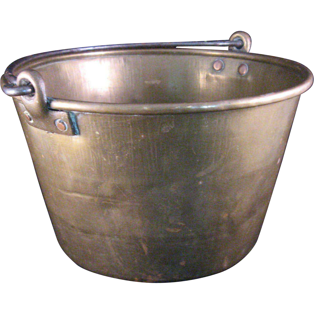 Bucket transparent 1 gallon. Hammered brass pail with