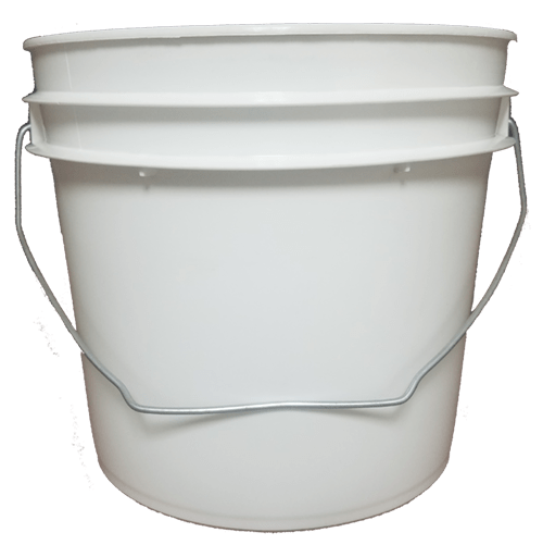 Bucket transparent 1 gallon. White buckets by