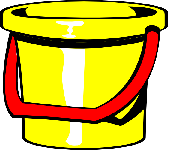 Bucket transparent cartoon. Clip art freeuse download