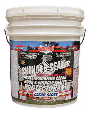 Bucket transparent clear acrylic. Shingle sealer nationwide protective