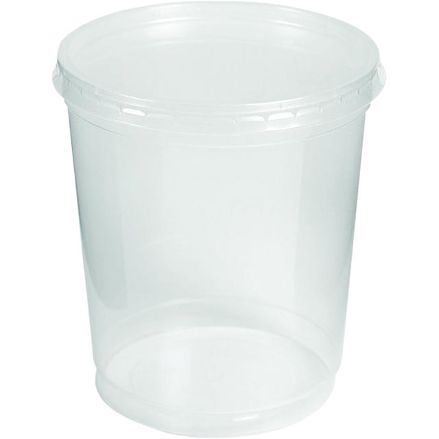 Cup transparent disposable. Container pp ml plastic