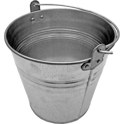 Bucket transparent silver. With wood png stickpng