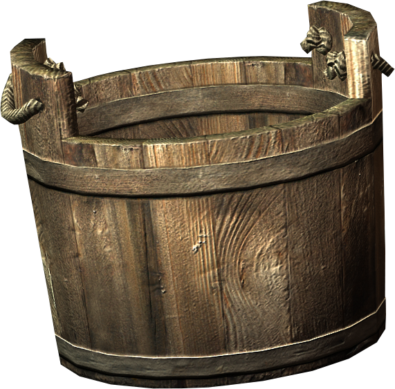 Bucket transparent wooden. Skyrim elder scrolls fandom