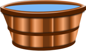 Bucket transparent wooden. Clip art at clker
