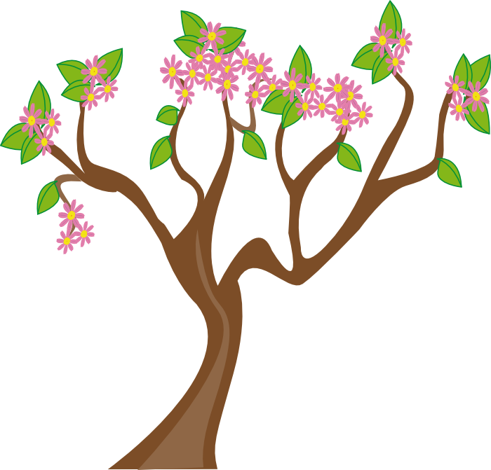 Bud drawing cherry blossom. Winter tree clipart embroidery